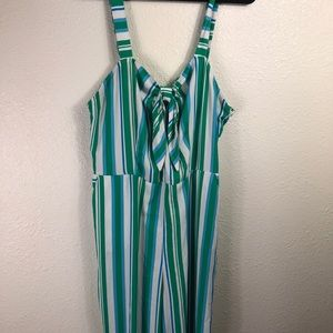 c92c84b18e9 A New Day Pants - A New Day Green striped Jumpsuit Size XXL